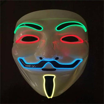 Hot Sale Flashing El Wire Mask Led Glowing Beauty Christmas Party Mask Festival Event Haloween Light Up Stage Dance Masks - My Aashis