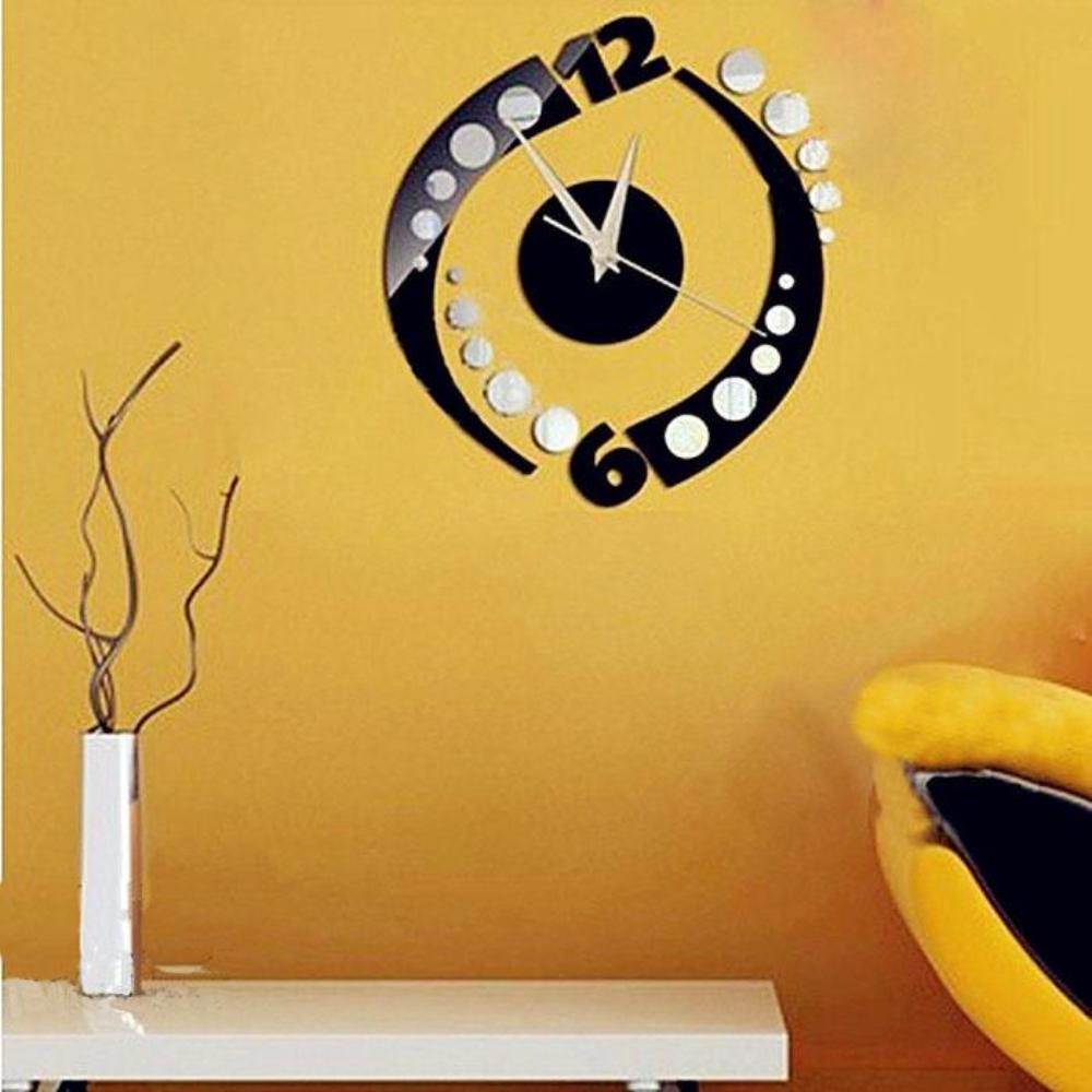 Rotation Clock Wall Sticker Home Decoration Removable Vinyl – My Aashis