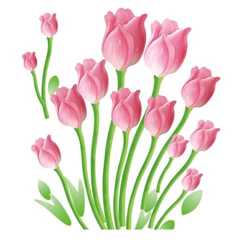 Tulips Wall Decals Mural Decal - My Aashis