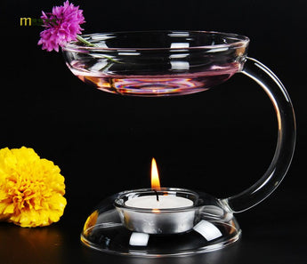Handmade Tealight Oil Aroma Glass Candlestick  Holder