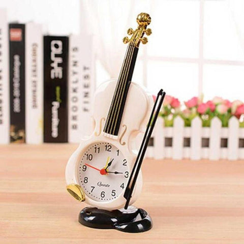 Fiddle Quartz Alarm Clock 2 Colors Instrument Violin - My Aashis