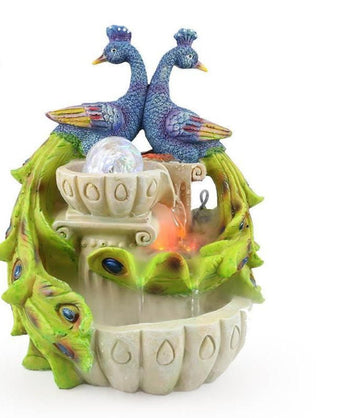 Craft Creative Auspicious Peacock Atomization Water Fountain - My Aashis