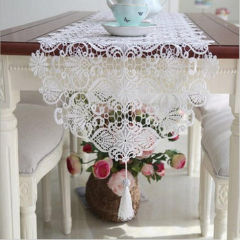 New European table runner cover romantic embroidery table covers