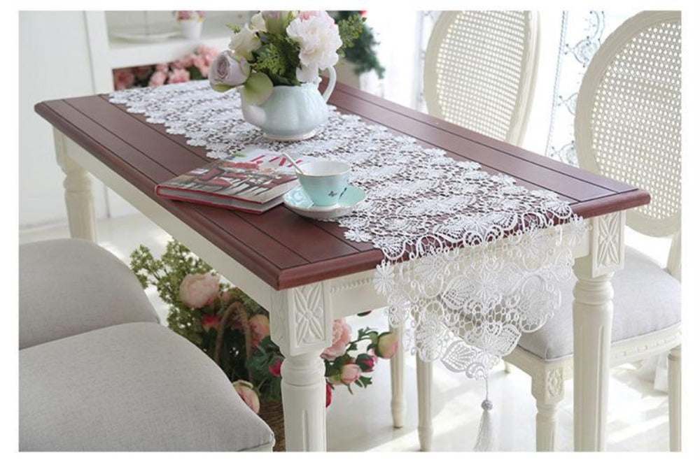 ... New European Table Runner Cover Romantic Embroidery Table Covers ...