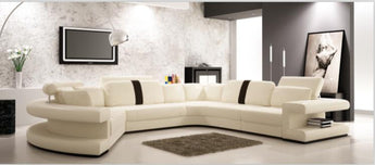 Living room sofa furniture with modern corner leather sofas u shaped sofa