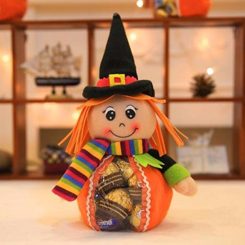 Creative Littel Girl Halloween Candy Bag Gift Trick or Treat Bags Sacks Hallowmas Gift For Kids Event Party Supplies