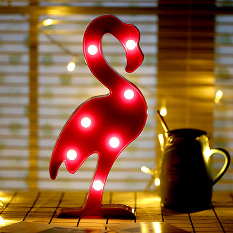 Tronzo  Flamingo Led Light Christmas Wedding Decoration For Home Marquee Unicorn Head Pineaapple Lantern Party 3D Night Lamp - My Aashis