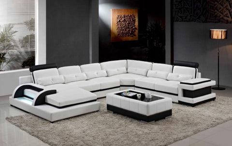 Large corner leather sofa for modern sectional sofa U shaped sofa for living room sofa furniture - My Aashis
