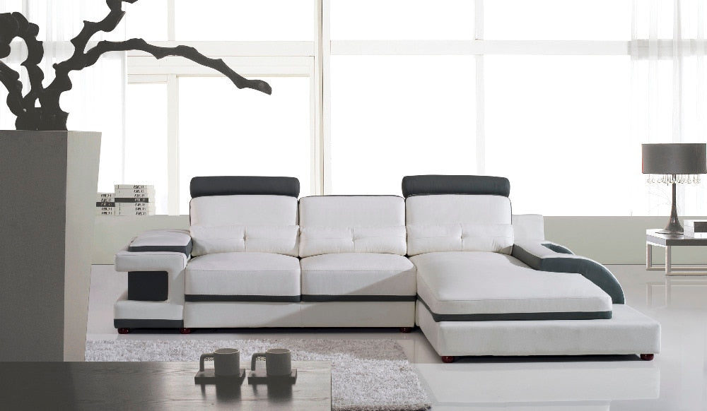 Large corner leather sofa for modern sectional sofa U shaped sofa ...