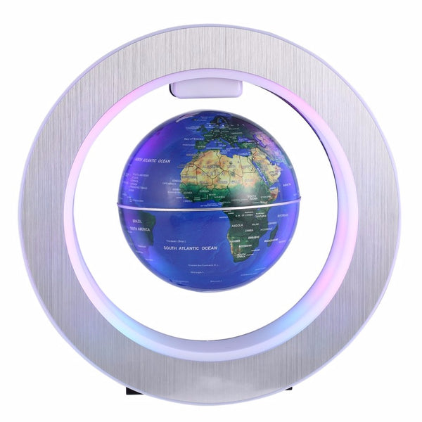 LED World Map Novelty Magnetic Levitation Floating Globe LED Floating Tellurion With LED Light Home Decoration Office Ornament