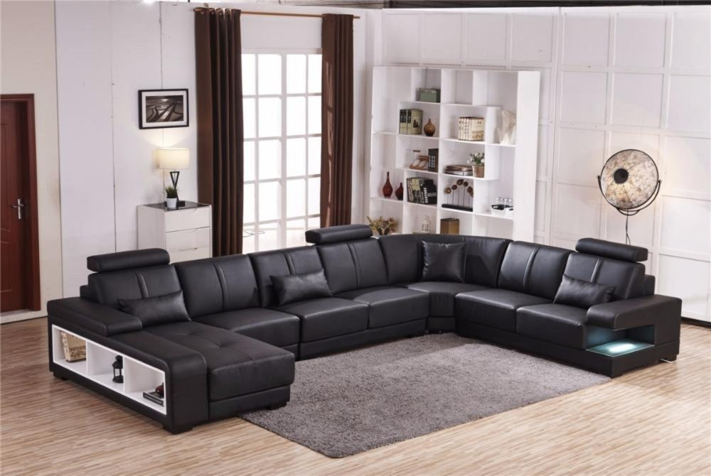 Luxury Sectional Sofa Design U Shape 7 Seater Lounge Couch Corner Sofa