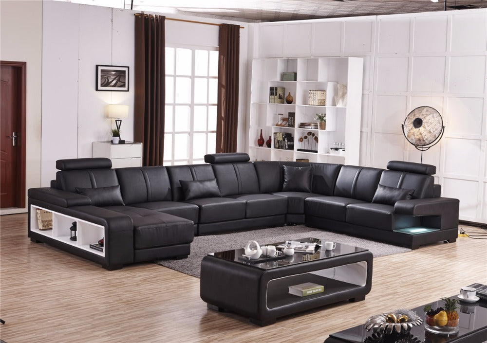 Superb Luxury Sectional Sofa Design U Shape 7 Seater Lounge Couch Lamtechconsult Wood Chair Design Ideas Lamtechconsultcom
