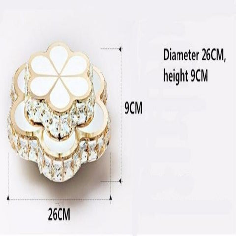 Contemporary Led Ceiling Light Golden Crystal Flower - My Aashis