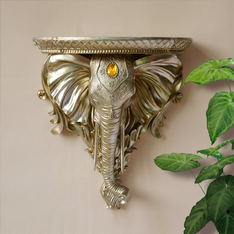 Elephant Head Sculpture Pendants Wall Decoration Creative - My Aashis