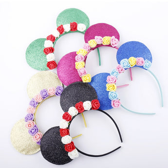 Multicolor Rose and Ribbon Pattern Hairbands for Kids - My Aashis
