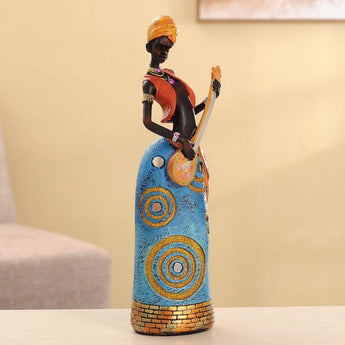 34cm Height Polyresin Africa Beauty Resin crafts - My Aashis