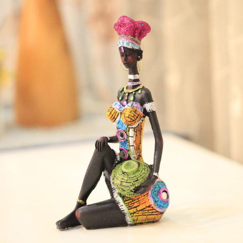22cm Height Polyresin Africa Beauty Resin crafts - My Aashis