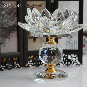 Feng Shui Lotus Flower Metal Candle Holders Big Tea light Candle Stand Holder