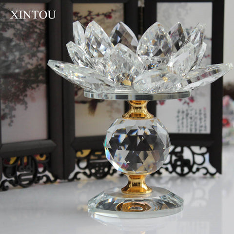 Feng Shui Lotus Flower Metal Candle Holders Big Tea light Candle Stand Holder - My Aashis