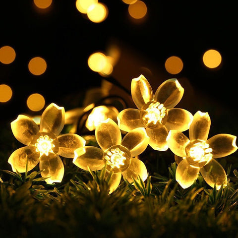 Battery Sakura Flower 5M 50 LED String Light LED Fairy Lights for Festival Christmas Halloween Wedding Holiday Light Decoration - My Aashis