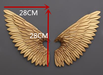 Metal Statue Retro Wing Wall Sculpture Decoration Figurine - My Aashis