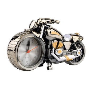 Motorcycle Motorbike Pattern Alarm Clock Desk Birthday Gift