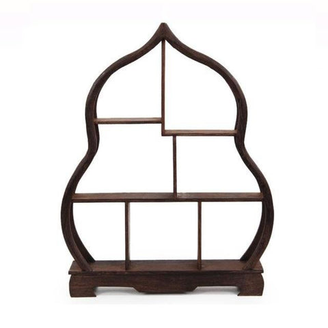 Wooden Cabinet Display Shelves Furnishing Articles Teapot Shelf - My Aashis