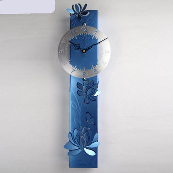 Big Metal Modern Design Art Wall Clock Mute  Home Decor