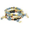 Ethnic 4pcs Colorful Beads and Resin Strand Bracelets sets - My Aashis