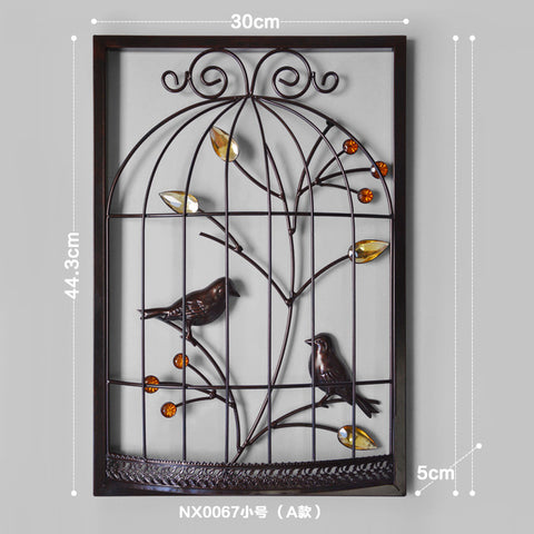 Stereo Background Wall Hanging Iron Cage Wall Mural Creative - My Aashis