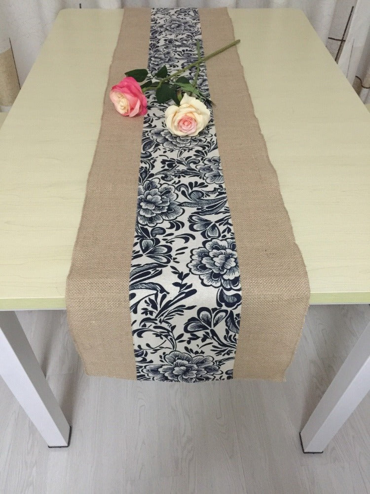 chair or sashes knitted runners jacquard table polyester lace store inch runner rose product