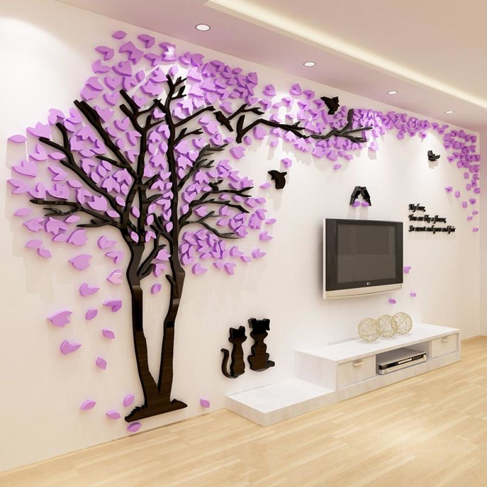 couple tree 3d sticker acrylic stereo wall stickers home decor