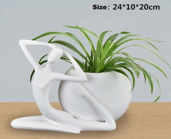 Abstract Art Characte White Vases  flower pot