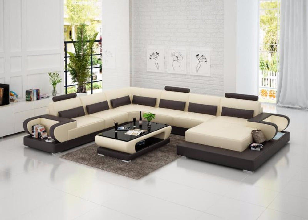 Luxury Modern High quality leather sofa for living room – My Aashis