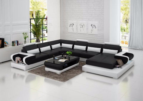 Delightful Soothing Leather Sofa For Living Room - My Aashis