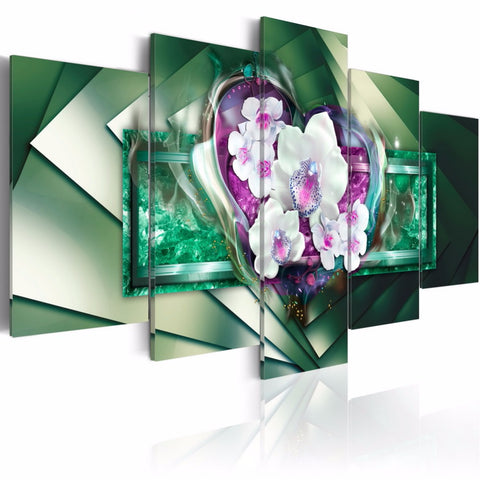 Contemporary 5 panel Canvas Artwork For Wall Decoration - My Aashis