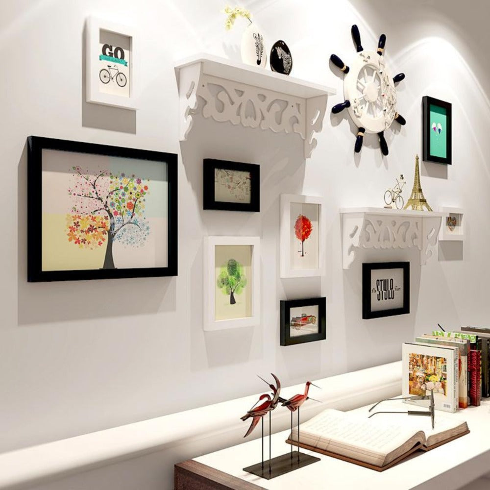 12 Pcs Natural Wood Photo Frame Combination Include Storage ... Natural Wood Home Design on natural wood exterior paint color, natural wood interior design, natural wood kitchen ideas, natural wood texture background,