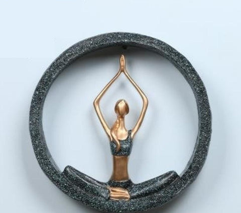 Art Resin Yoga Pose Statue Wall Hangings Modern Home Accessories - My Aashis