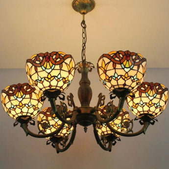 Handmade Antique Suspension Stained Pendant Lights