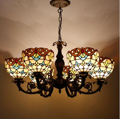Handmade Antique Suspension Stained Pendant Lights - My Aashis
