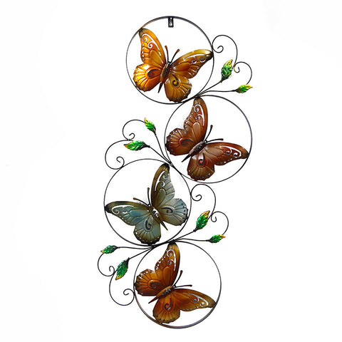 Retro Butterfly Metal Art Mural Style Living Room Wall Decoration - My Aashis