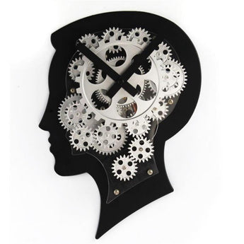 Mute Creative Brain Wall Clock Modern Design  Living Room/Study  Home Decor