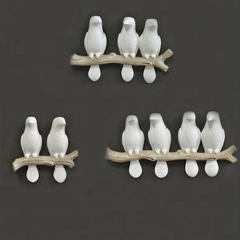3D Wall Hanging Resin Bird Animal Statue - My Aashis