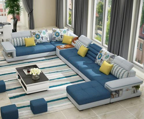 Modern Luxury U Type Fabric Sofa - My Aashis