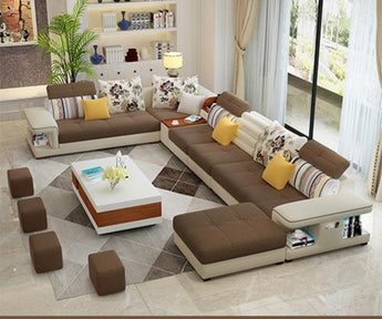 Modern Luxury U Type Fabric Sofa