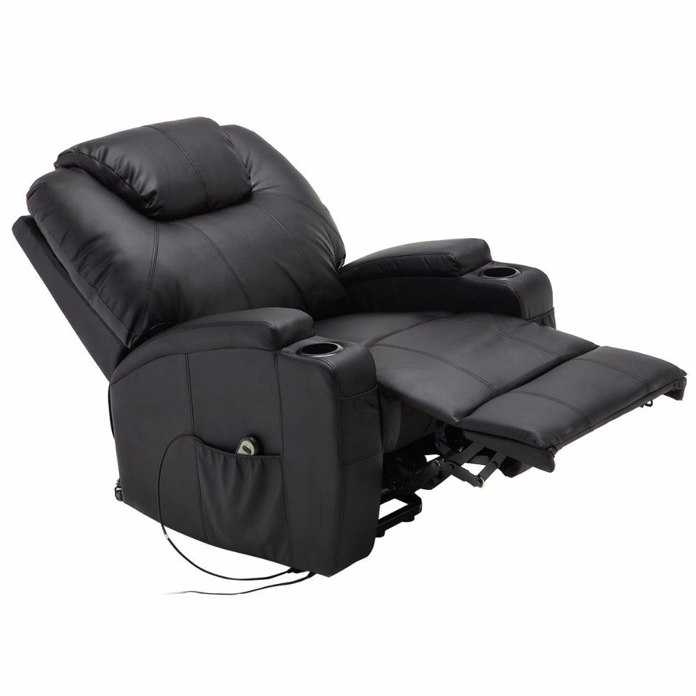 giantex electric lift power recliner chair heated massage sofa rh myaashis com leather reclining massage sofa heated massage reclining sofa