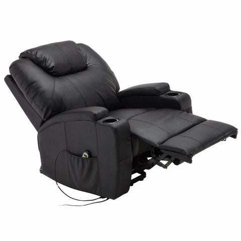 Giantex Electric Lift Power Recliner Chair Heated Massage Sofa Lounge with Remote Control Sofa Chairs Modern Recliner - My Aashis