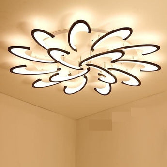 White/ Black Modern Led  Chandelier Lights For Living Room Bedroom Dining
