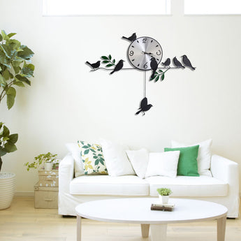 Iron 3D Wall Clock For Living Room Home Decoration - My Aashis