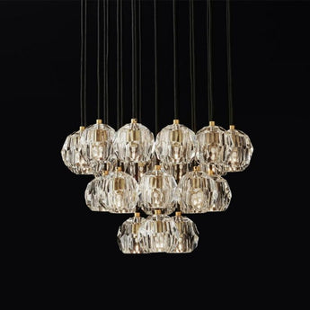 Modern Luxurious Led Chandelier Lighting 10-22 Lamps Copper Pendant